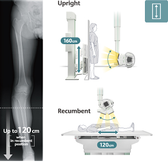 [image] X-ray machine taking Upright images and Recumbent images