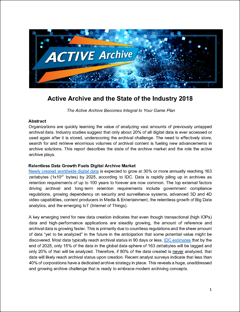 Active Archive and the State of the Industry 2018