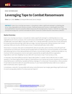ESG SHOWCASE - Leveraging Tape to Combat Ransomware