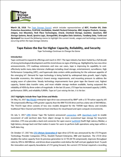 Tape Raises the Bar for Higher Capacity, Reliability, and Security