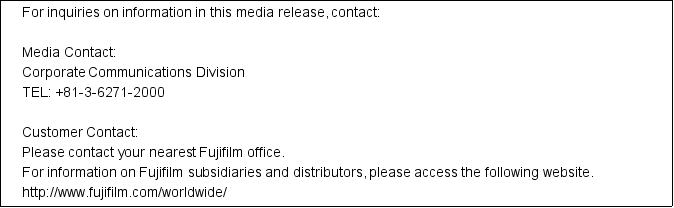 Media contact information