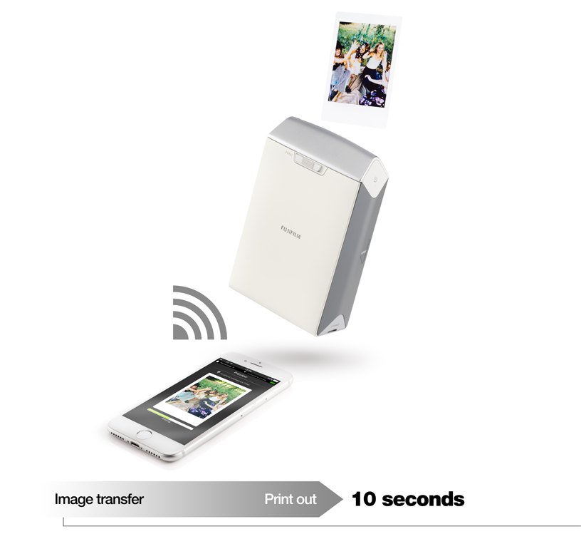 Imprimante SP-2argent avec téléphone et photos