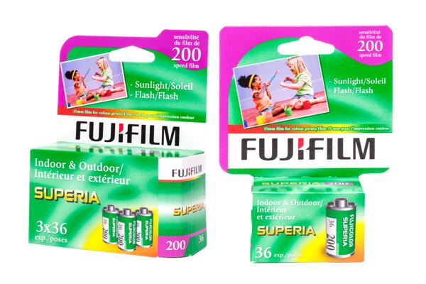 Boîte de films Superia 200
