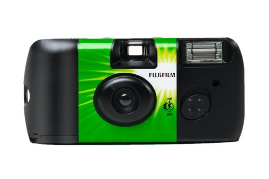 Face avant d'un appareil photo Fujifilm QuickSnap