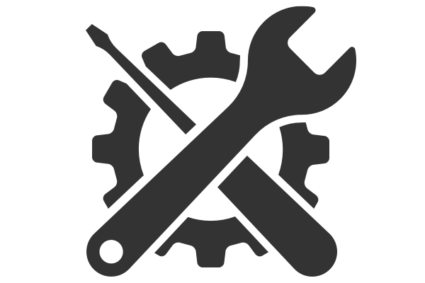 Gif of a screwdriver and wrench crossing a gear