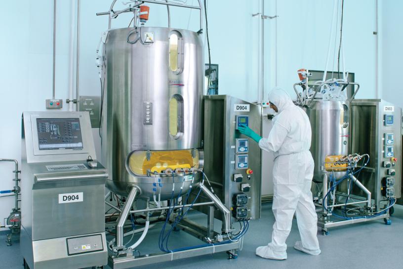 [image]Conteneur de culture pour la fabrication de produits biopharmaceutiques