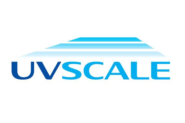 [logo] UVScale logo in Blue and teal