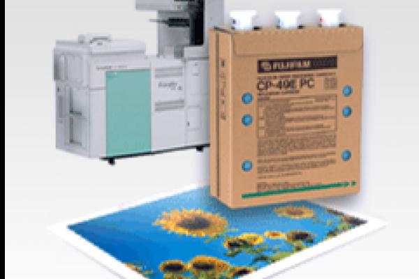 Produit chimique d'impression Frontier avec imprimante et image imprimée