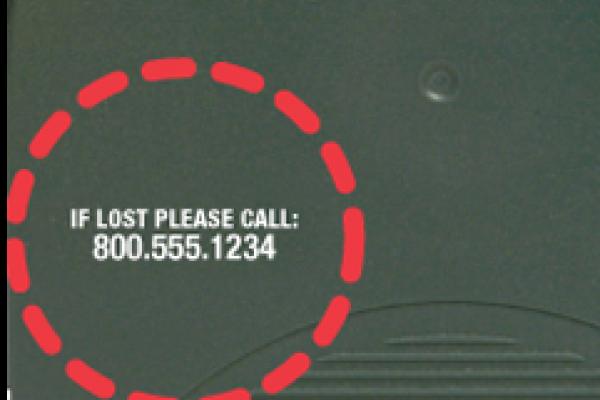 Custom logo example on product