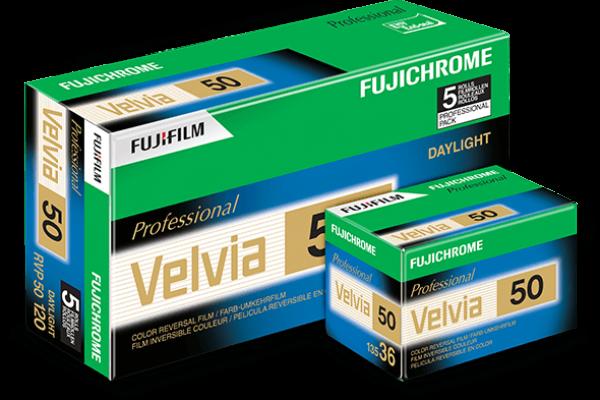 Boîte de films Velvia50