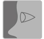 [Bild] Nahaufnahme eines Auges mit einem seitlichen Kegel