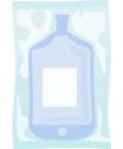 [immagine] Sacca per trasfusioni all'interno della confezione in plastica trasparente