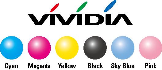 VIVIDIA Cian/Magenta/Amarillo/Negro/Azul cielo/Rosa