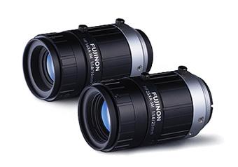 [foto] 2 lentes Fujinon uno al lado del otro sobre un fondo blanco