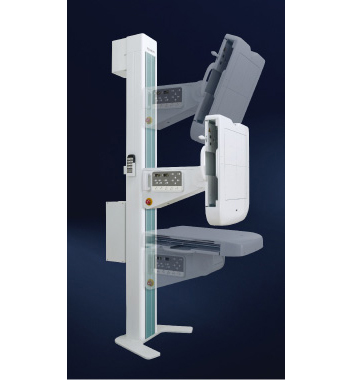 [photo] Wall Bucky Stand Automatic Tilting feature of the FDR SMart X X-ray system
