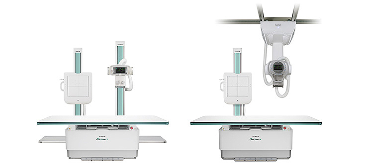[photo] Side by side selectable two style options of the FDR SMart X X-ray system