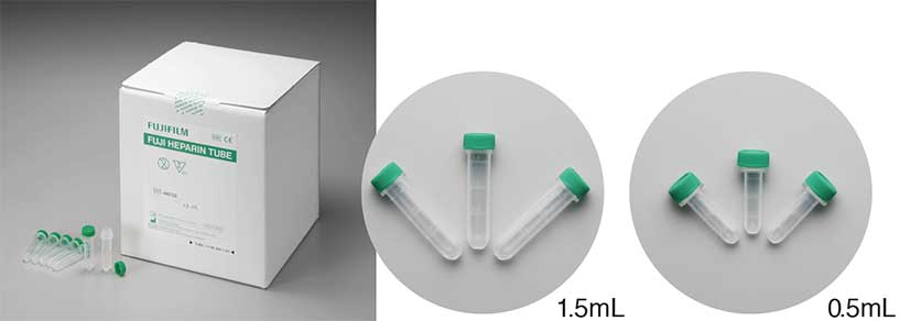 [photo] HEPARIN TUBE 0.5mL and HEPARIN TUBE 1.5mL