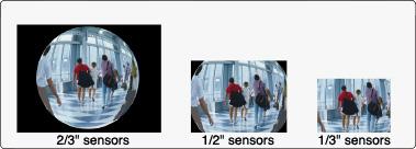 [foto] Imágenes de simulación tomadas con FE185C057HA-1: sensores de 2/3pulgada, sensores de 1/2pulgada y sensores de 1/3pulgada