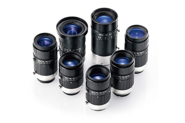 [photo] HF-XA-5M Series lenses standing upright and grouped together in a circle