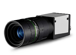 [photo] Small machine vision camera with FUJINON HF-12M series lens attached