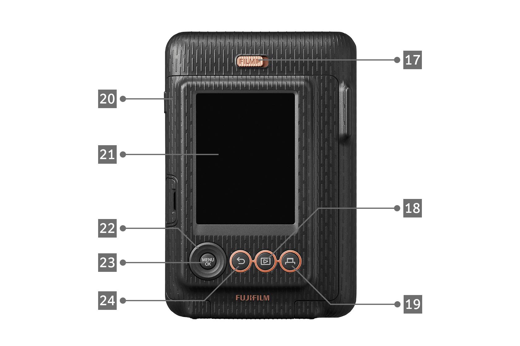Rear View of a Black LiPlay camera
