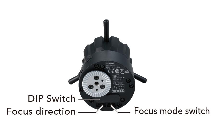 [foto] Interruptor DIP de demanda de enfoque digital, dirección de enfoque e interruptor de modo de enfoque