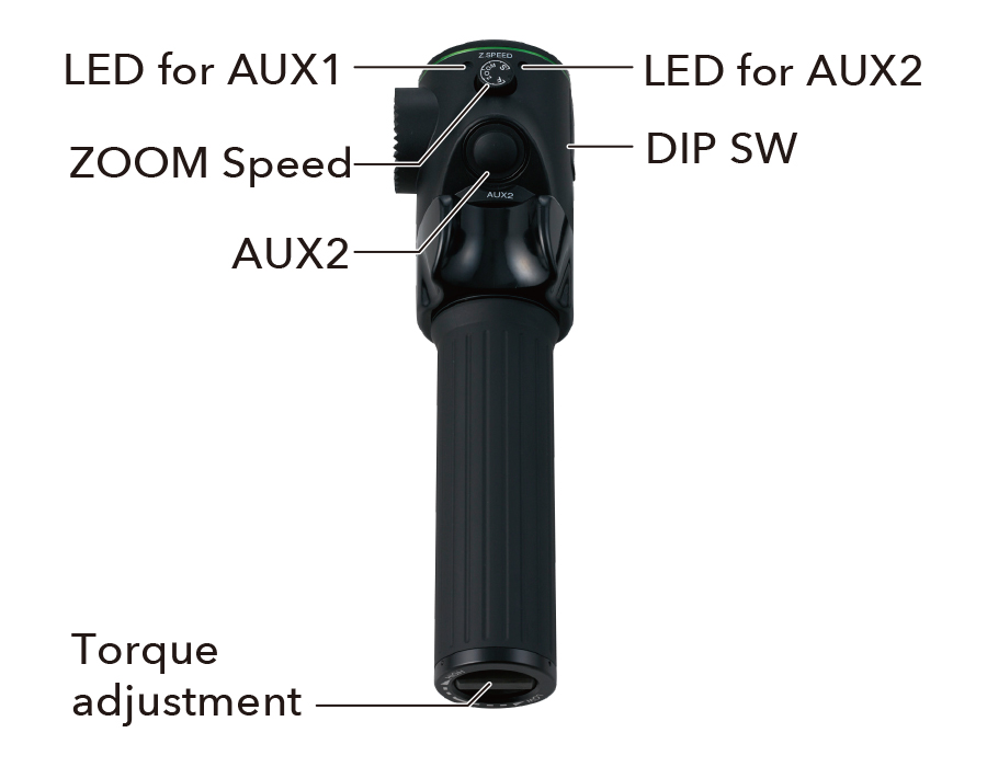 [photo] Digital Zoom Demand zoom speed, LEDs for auxiliaries, and torque adjustment