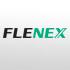 [logotipo] Logotipo de Flenex en negro y verde