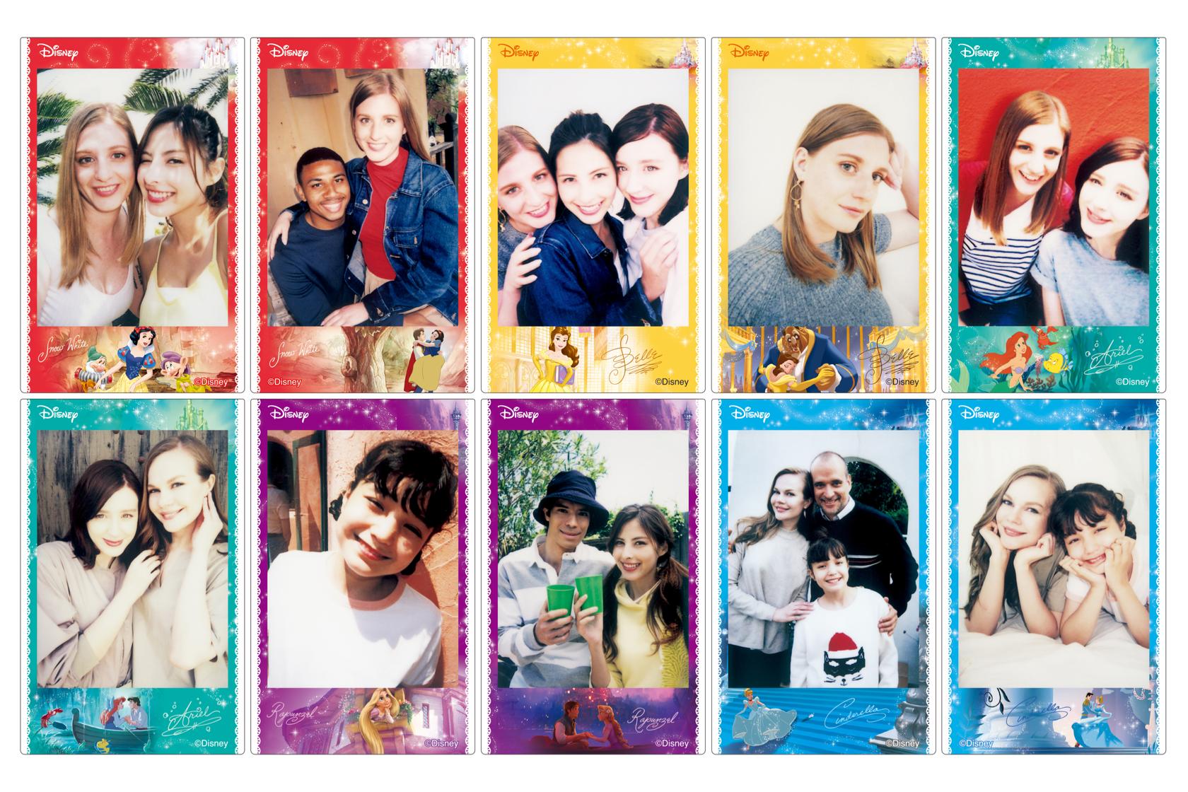 Tile of friend or family photos on INSTAX Mini Disney Princess Film