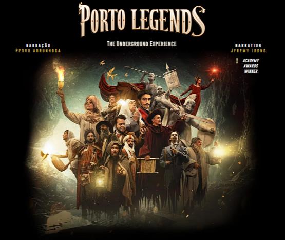 [imagen] Póster de Porto Legends: The Underground Experience que muestra a los actores con disfraces