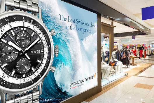 Imagen de un póster de reloj de mano en la pared
