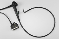 [photo] EG-580UR endoscope insertion tube, attached to control portion, bent and wrapped into circle