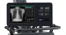 [photo] Surface of FDR Nano interface with x-ray image of chest on screen
