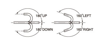 [image] Scope moves 180 degrees up/down, 160 degrees left/right flexible angles