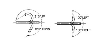 [image] Scope flexibly bends 210 degrees up/120 degrees down and 100 degrees left/right