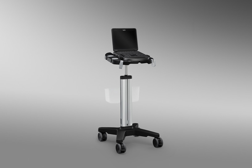 [photo] Edge Stand with SonoSite Edge II attached on top of stand