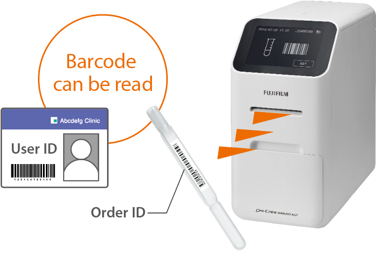 [image] DRI-CHEM IMMUNO AG2 system reading barcodes on Order ID and User ID