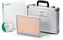 [photo] Fujifilm Mammography QC Program with case, binder, tablet, etc.