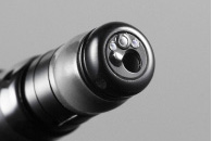 [photo] Distal end of EG-580UR endoscope with functional parts