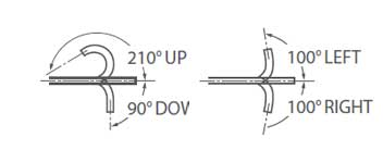 [image] Scope moves 210 degrees up/90 degrees down, 100 degrees left/right flexible angles