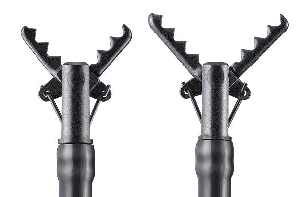 [photo] Open, serrated jaws of two ClutchCutter devices, side by side