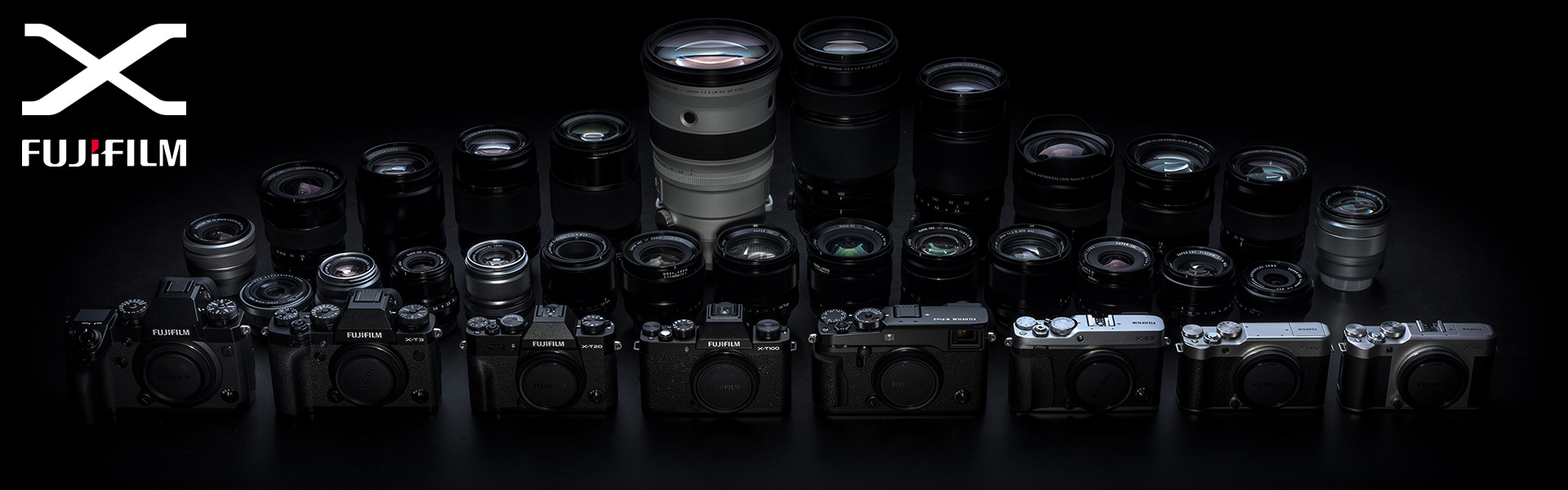 Hero Image of X System cameras and lenses