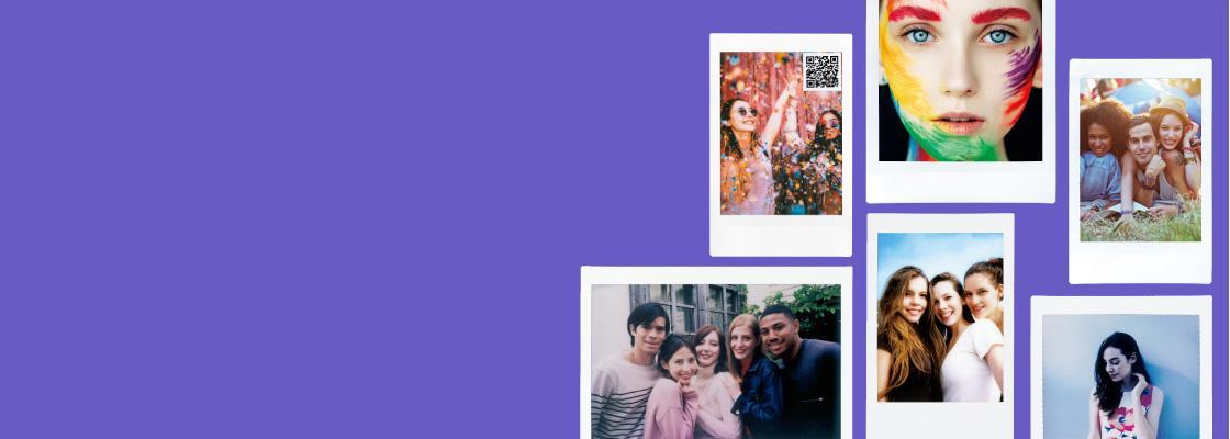 banner púrpura con múltiples películas diferentes