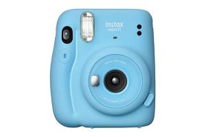 [foto] Cámara Instax Mini 11 en azul con fondo blanco