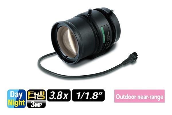 [foto] Lente varifocal DV3.8x4SR4A -SA1/SA1L de costado