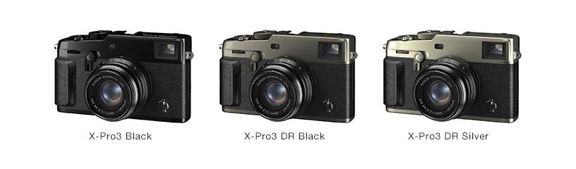 [Photo]X-Pro3 Black, X-Pro3 DR Black, X-Pro3 DR Silver
