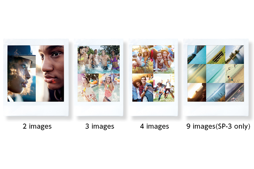 [photo] 4 group of different types of collages available on the Instax SHARE SP-3