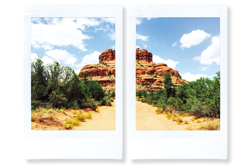 [photo] A left and right side of a mountain split into 2 different photos