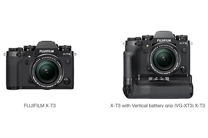 [Photo]FUJIFILM X-T3 / X-T3 with Vertical battery grip (VG-XT3) X-T3