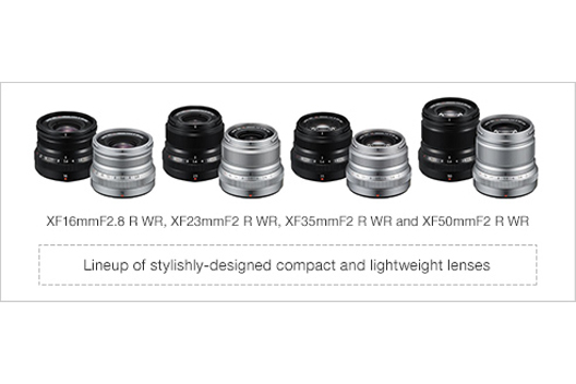 [Photo]Lineup of stylishly-designed compact and lightweight lenses